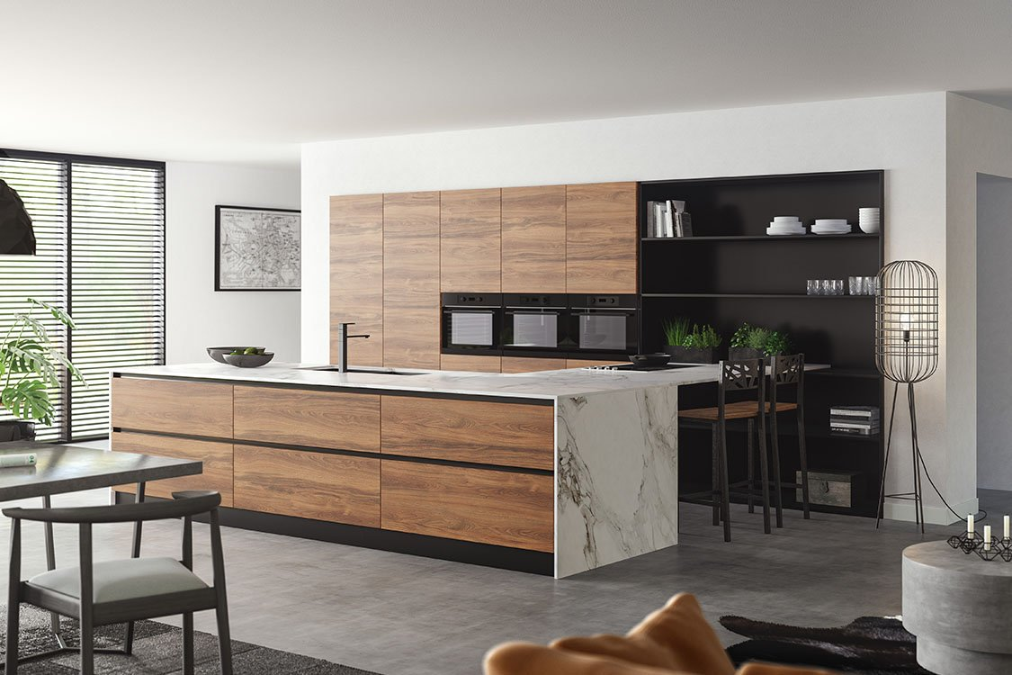 Greeploze keuken City Chic - Warm Eiken - modern(1)